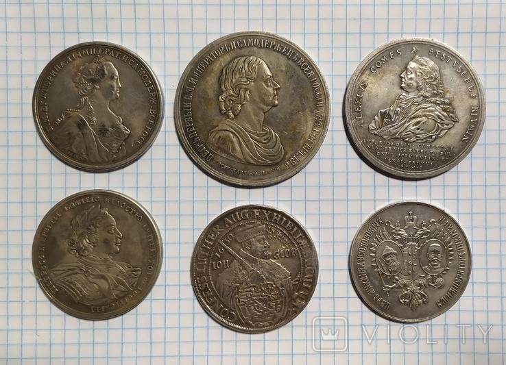 Лот из 6  медалей.штамп,копии., фото №2