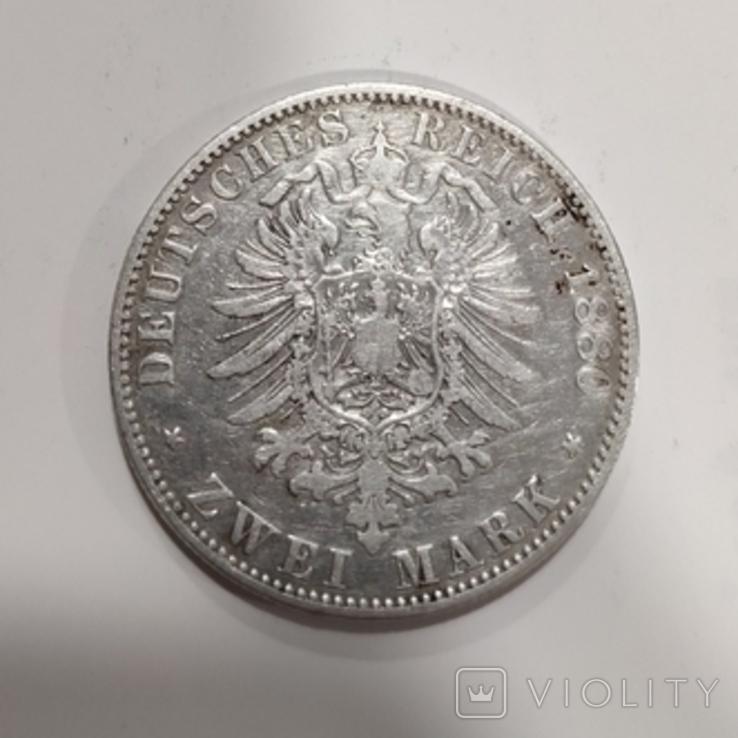 2 марки Пруссия 1880, сохран., фото №4