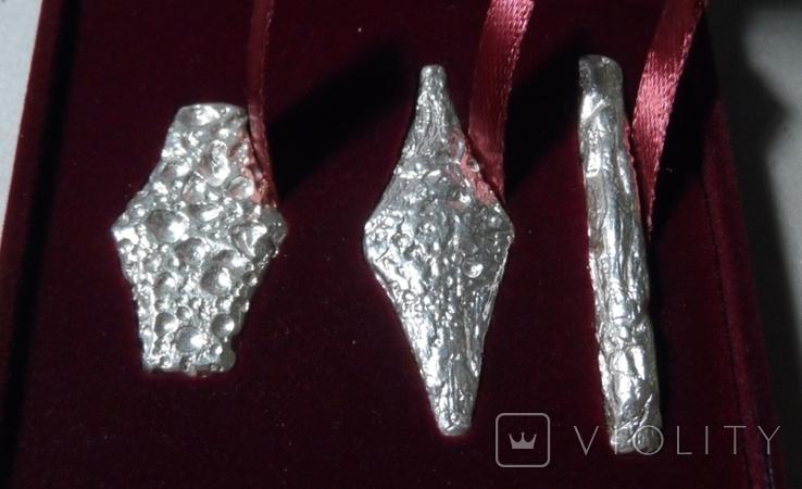 Набор монет гривна киевская черниговская новгородская футляр серебро копия тип 2, фото №4