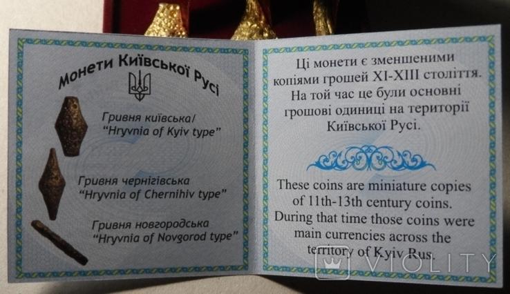 Набор монет гривна Киевская Черниговская Новгородская футляр 2020 набор тип1 гривна, фото №5