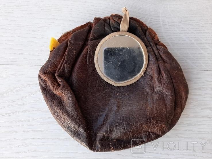 Винтажная немецкая сумочка с зеркальцем, фото №3