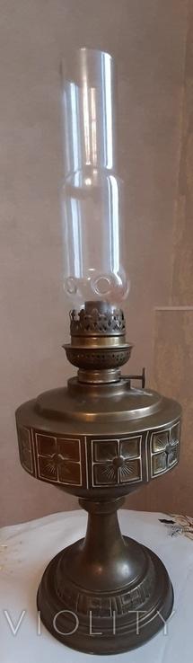 Керосиновая лампа латунная 1890-1910г-Германия, фото №2