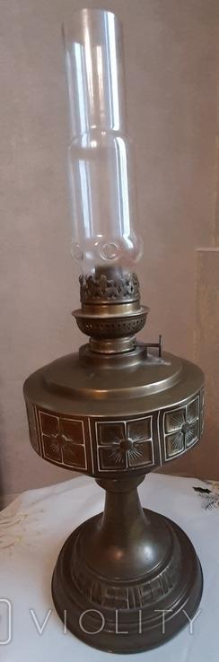 Керосиновая лампа латунная 1890-1910г-Германия, фото №4