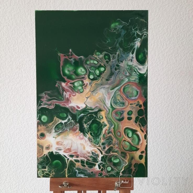 Картина/ живопис/ абстракція Fluid Art #73 acrylic, фото №2