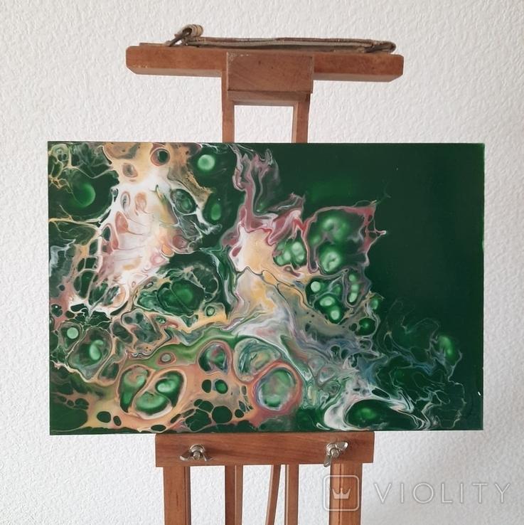 Картина/ живопис/ абстракція Fluid Art #73 acrylic, фото №3
