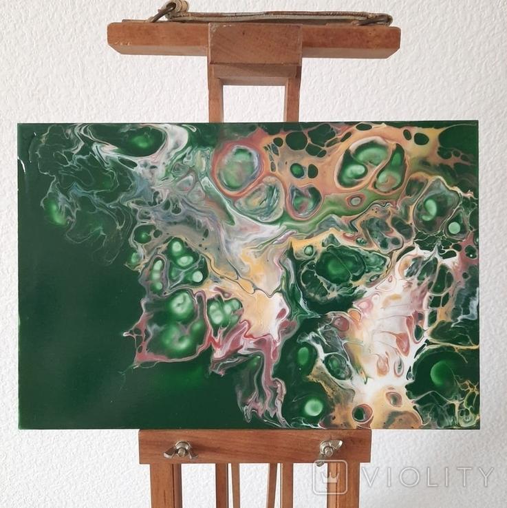 Картина/ живопис/ абстракція Fluid Art #73 acrylic, фото №5