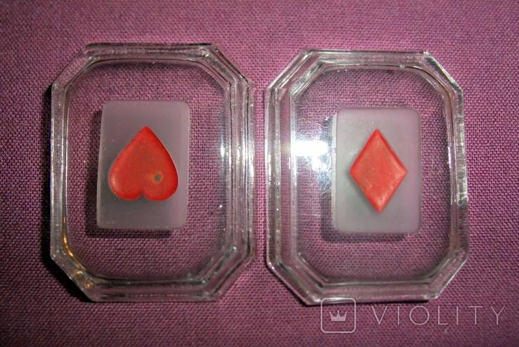 Пепельницы миниатюрные - Масти карт черви, бубна., фото №4