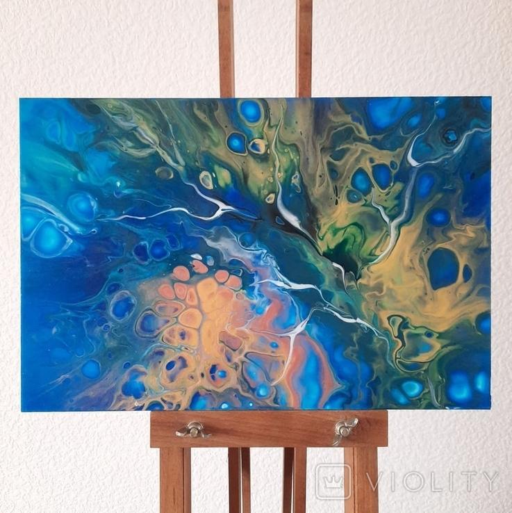 Картина/ живопис/ абстракція Fluid Art #74 acrylic, фото №3