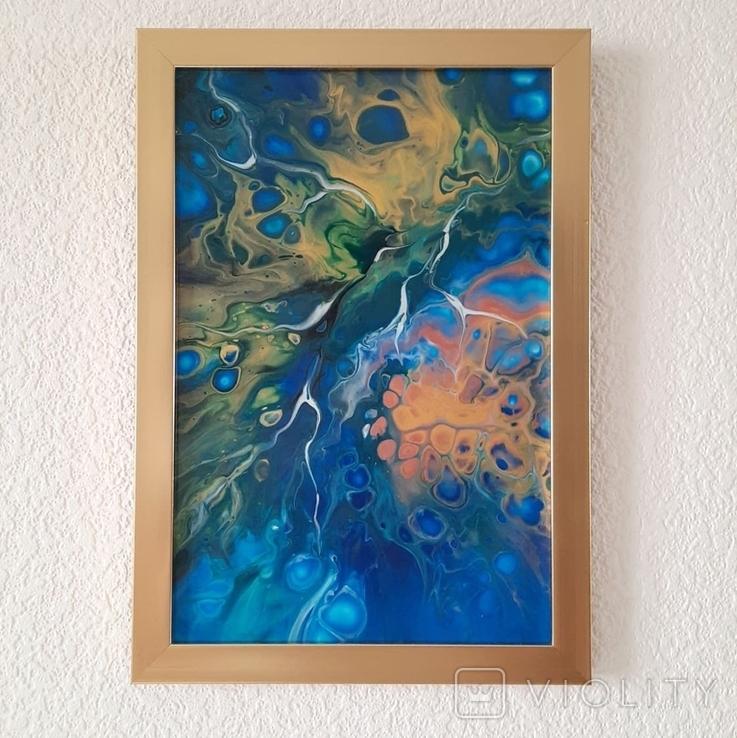 Картина/ живопис/ абстракція Fluid Art #74 acrylic, фото №11