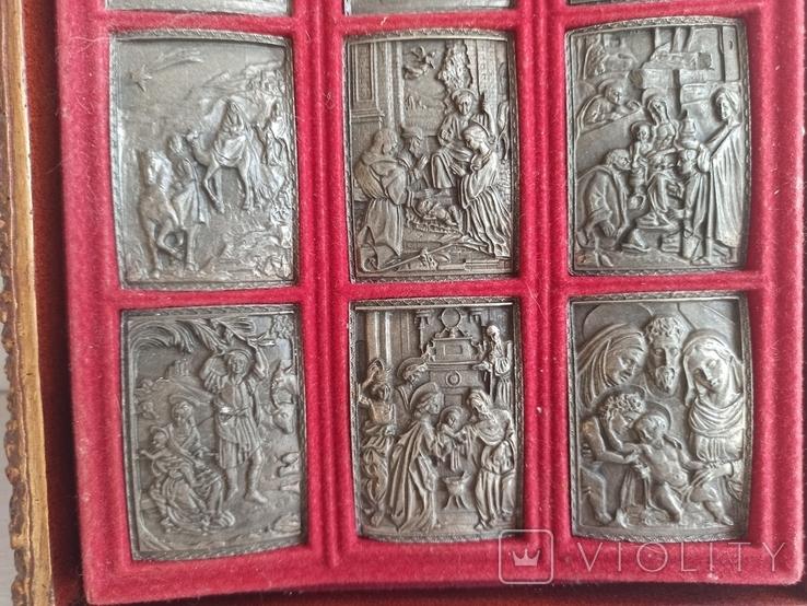 Икона с объемными изображениями на металле. Европа. Л659, фото №7