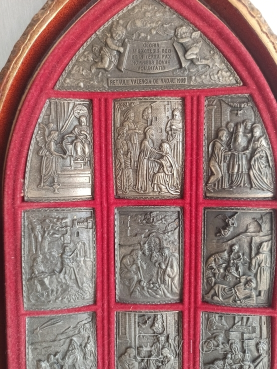 Икона с объемными изображениями на металле. Европа. Л659, фото №11