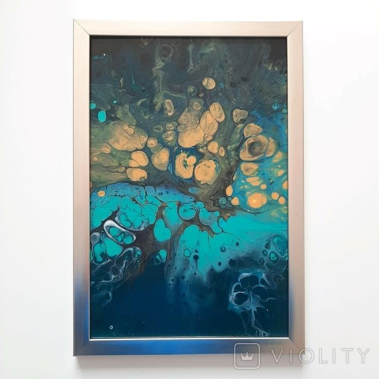 Картина/ живопис/ абстракція Fluid Art #76 acrylic, фото №12