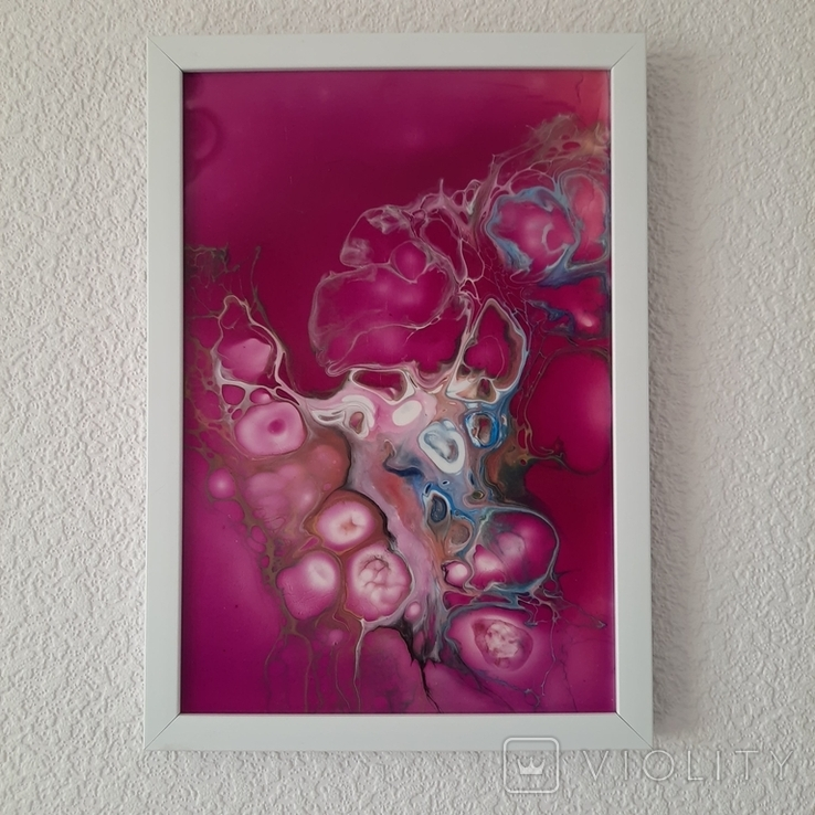 Картина/ живопис/ абстракція Fluid Art #77 acrylic, фото №11