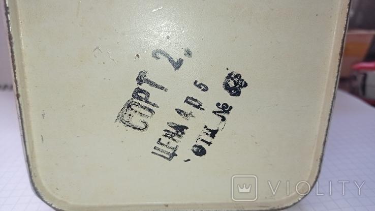 Банка жестяная Ленинград, Завод эмалированной посуды 1, фото №4