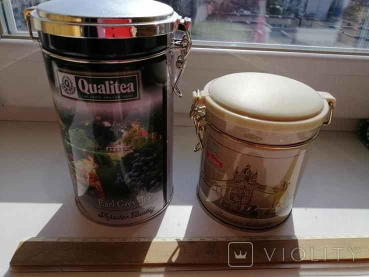 Жестяные банки от чая, 2 шт., фото №2