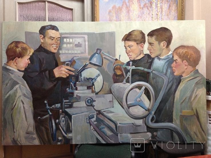 Картина СССР Наставник 1960 е гг., фото №2