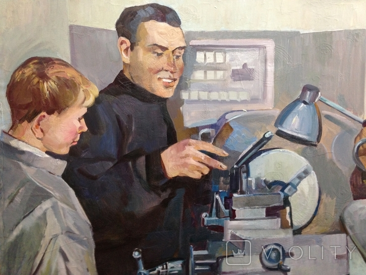 Картина СССР Наставник 1960 е гг., фото №4
