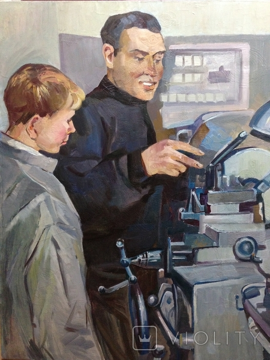 Картина СССР Наставник 1960 е гг., фото №8