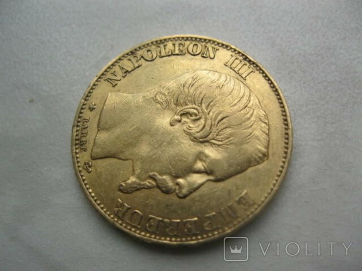 20 франков 1855 год Франция, фото №3