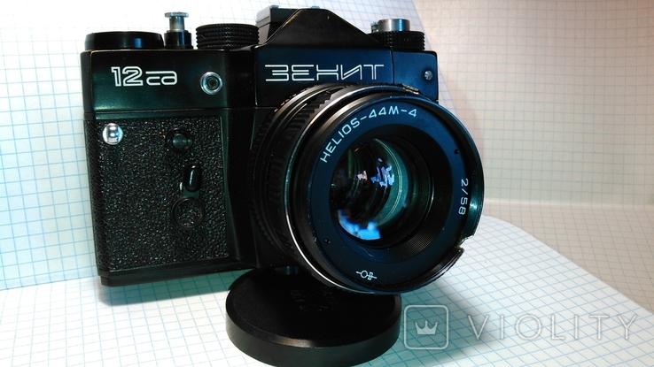 Фотоаппарат Зенит 12 сд с объективом HELIOS-44М-4 (Гелиос) + футляр, фото №2