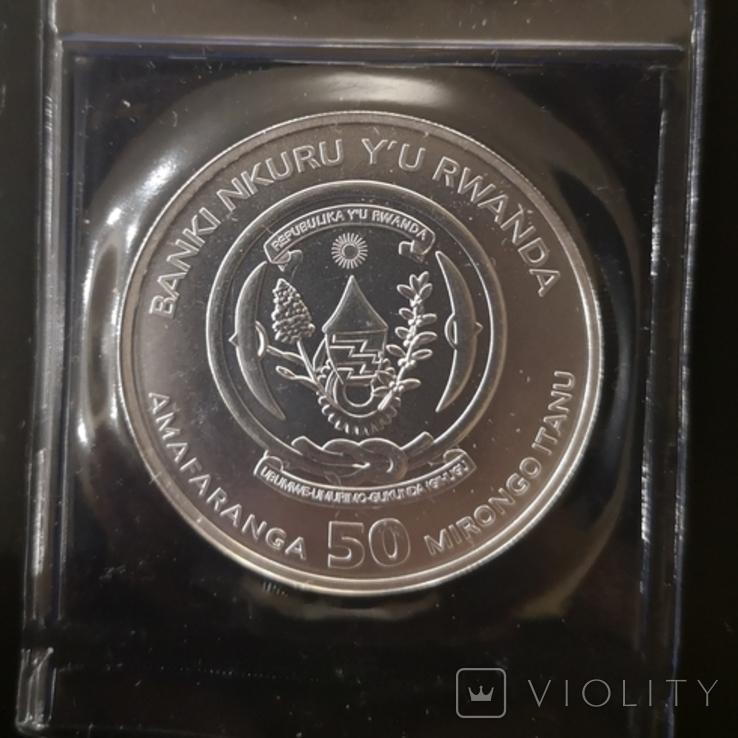Руанда Морская Унция 2019 год. серебро 999, фото №3