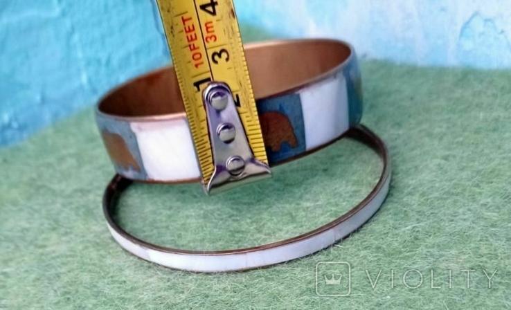 Браслет перламутр, 7 см. диаметр. 2 шт., фото №9