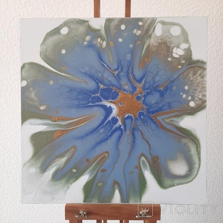 Картина/ живопис/ абстракція Fluid Art #78 acrylic, фото №6