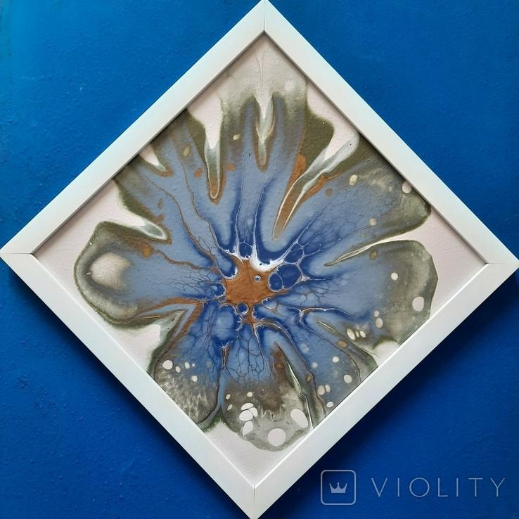 Картина/ живопис/ абстракція Fluid Art #78 acrylic, фото №9