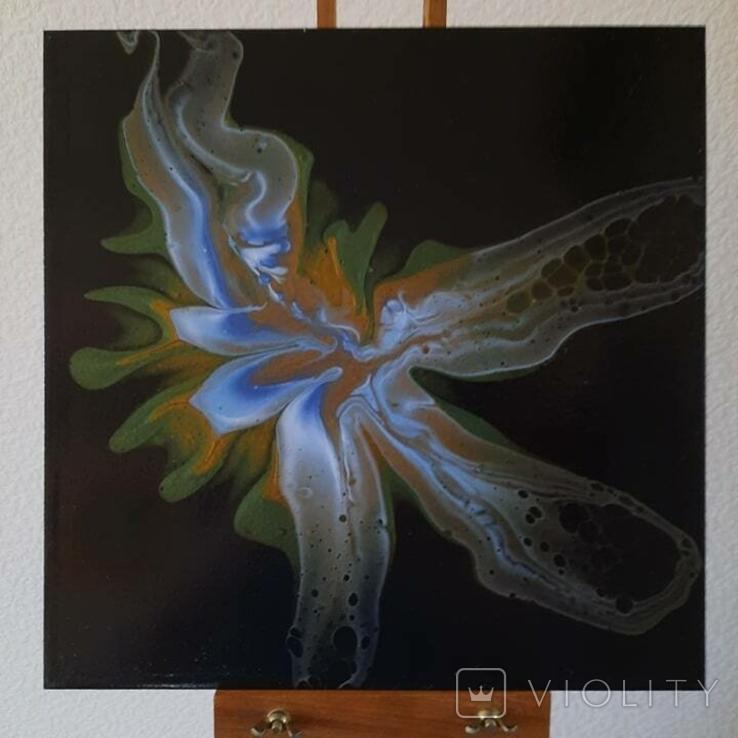 Картина/ живопис/ абстракція Fluid Art #81 acrylic, фото №3