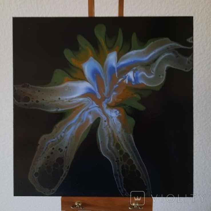 Картина/ живопис/ абстракція Fluid Art #81 acrylic, фото №6