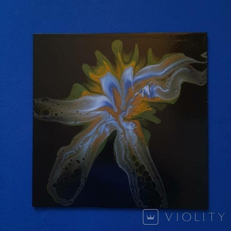 Картина/ живопис/ абстракція Fluid Art #81 acrylic, фото №10