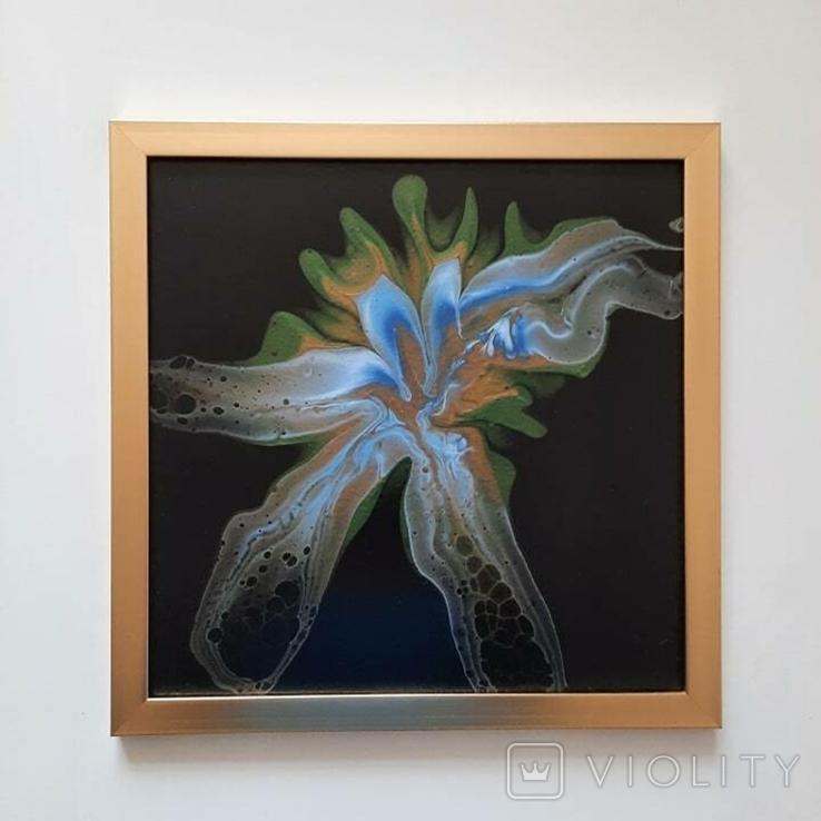 Картина/ живопис/ абстракція Fluid Art #81 acrylic, фото №11