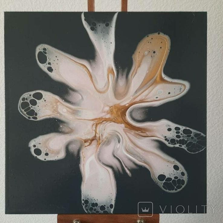 Картина/ живопис/ абстракція Fluid Art #82 acrylic, фото №3