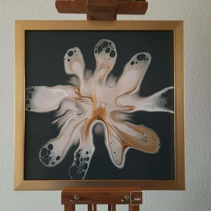 Картина/ живопис/ абстракція Fluid Art #82 acrylic, фото №6