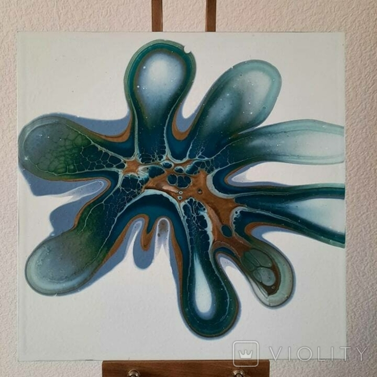 Картина/ живопис/ абстракція Fluid Art #83 acrylic, фото №6