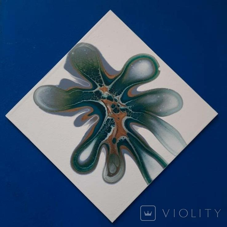 Картина/ живопис/ абстракція Fluid Art #83 acrylic, фото №8