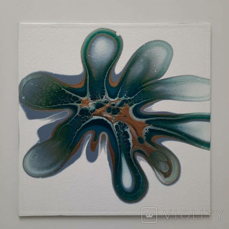 Картина/ живопис/ абстракція Fluid Art #83 acrylic, фото №10