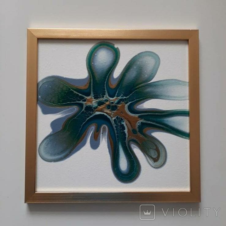 Картина/ живопис/ абстракція Fluid Art #83 acrylic, фото №11