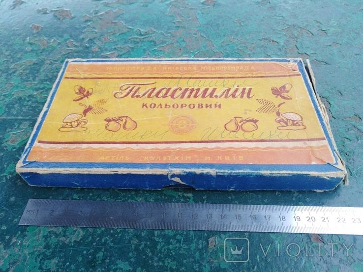 """Картонная коробка """"Пластилiн кольоровий""""., фото №2"""