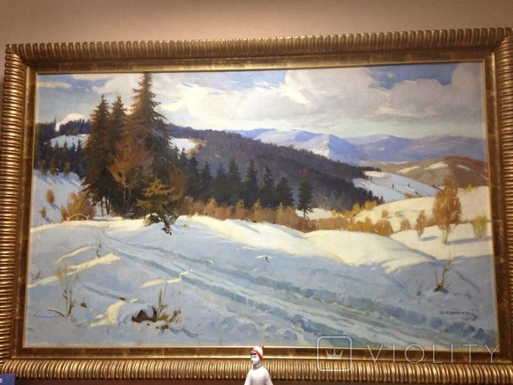 Зима в Карпатах 1954 год Народный художник УССР Кашшай Антон Михайлович (1921 - 1991), фото №3