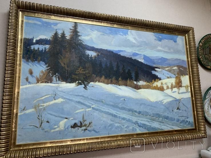Зима в Карпатах 1954 год Народный художник УССР Кашшай Антон Михайлович (1921 - 1991), фото №9