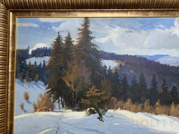 Зима в Карпатах 1954 год Народный художник УССР Кашшай Антон Михайлович (1921 - 1991), фото №10