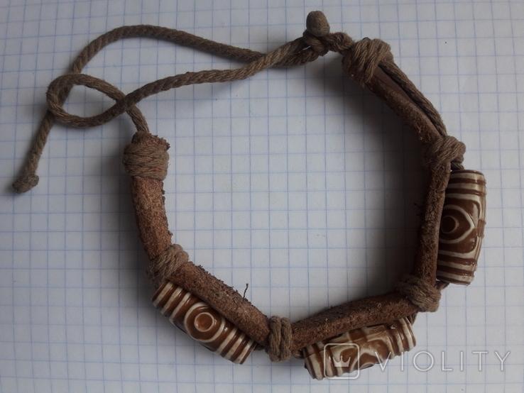 Кожаный браслет универсального размера, фото №7