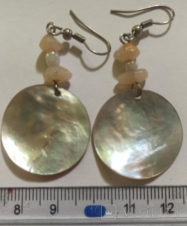 Ожерелье и серьги из перламутра, фото №5