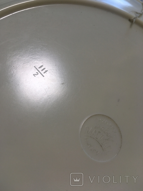 Настенная пластмассовая тарелка с изображением дамы, фото №3