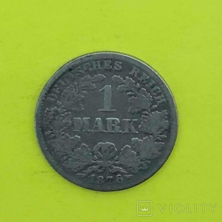 1 Марка 1876р. Срібло., фото №2