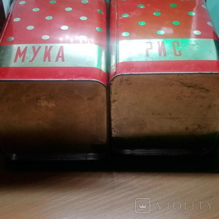 Банки (емкости) жестяные для сыпучих продуктов (круп) ссср, фото №4