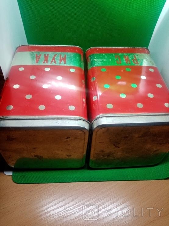Банки (емкости) жестяные для сыпучих продуктов (круп) ссср, фото №7
