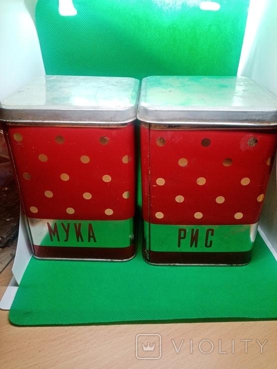 Банки (емкости) жестяные для сыпучих продуктов (круп) ссср, фото №8