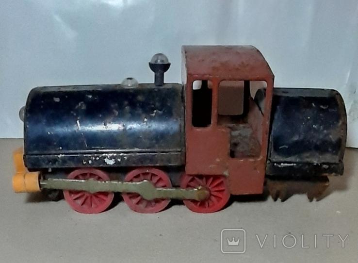 Железный Паровоз длина 27 см. СССР на реставрацию или запчасти, фото №2